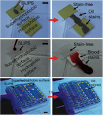 Slippery Surfaces with High Pressure Stability, Optical Transparency, and Self-Healing Characteristics